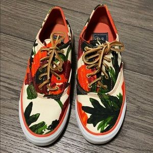 Milly x Sperry | Green Red Floral Print size 6.5